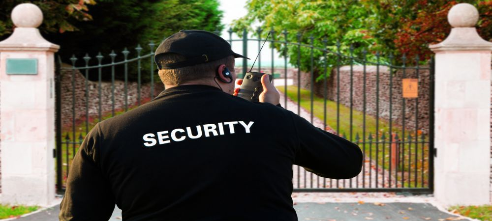 security personnel observant